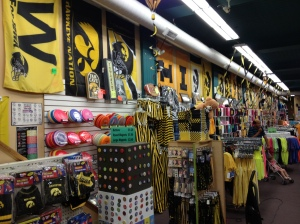 A store full of college stuff