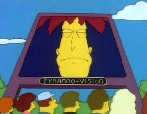 Sideshow Bob attempts to bring Springfield to its senses.